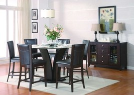 Counter Height Chair in Dark Brown Bi-cast Vinyl of Daisy Collection by ... - $373.97