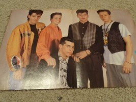 New Kids on the block teen magazine poster clipping Smash Hits yellow jacket