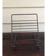 Metal Musical  book magazine music notes holder stand - $35.00