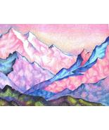 """Akimova: MOUNTAINGS  landscape,9""""x12"""" - $25.00"""