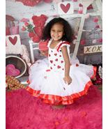Valentines Day Tutu, Red Hearts Tutu, Cupid Tutu Dress - $60.00 - $75.00