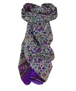 Mulberry Silk Traditional Square Scarf Jaipur Purple by Pashmina & Silk - $23.93