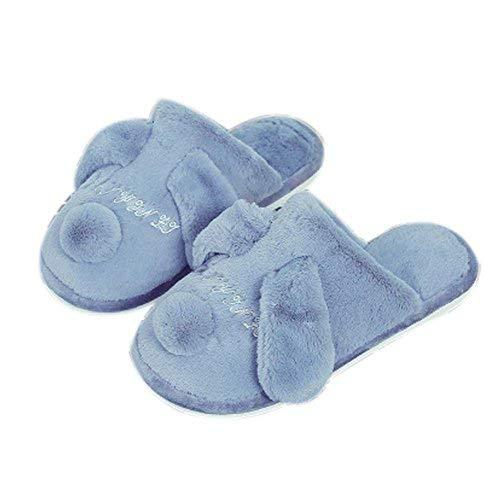 PANDA SUPERSTORE Gray House Warm Slippers Unisex Plush Soft Bedroom Indoor Winte