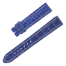 Breitling 18-16mm Genuine Alligator Leather Blue Ladies Watch Band - $299.00