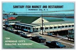 Morehead City, NC North Carolina Sanitary Fish Market & Restaurant Postc... - $8.90