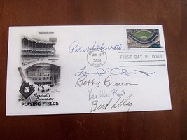 BOBBY BROWN PETER UEBERROTH SELIG MACPHAIL COLEMAN SIGNED AUTO VTG 2001 ... - $148.49