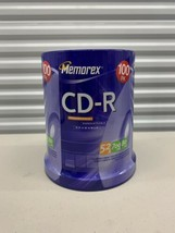 Memorex 100 Pack CD-R 700MB Blank CD 80min 52x SEALED, Free Shipping - $24.75