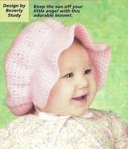 Darling Poke Bonnet Crochet Pattern - $4.99