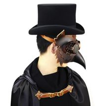 Reenactment Plague Doctor Steampunk Bird Leather Mask Halloween Gothic Cosplay image 3
