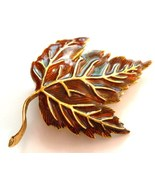 Colorful Autumn Leaf Crystal Brooch Pin Broach ... - $4.99