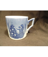 Blue & White Royal Copenhagen Mug 1981 KL Admiring Christmas Tree Mint - $14.99