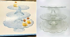 Gateaux 3 Tier Buffet Stand Handcrafted Glass - $79.19