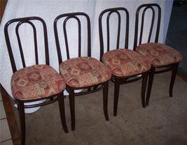 Set of 4 Oak Bentwood Ice Cream Chairs/Sidechairs - $385.68