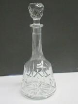 Hand Cut glass decanter 24% lead crystal - $36.47