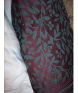 Burgundy & Green Leaf Print Fabric/Upholstery-1 Yd  - $18.08