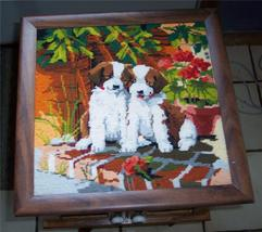 Needlepoint Puppies Picture - $44.49