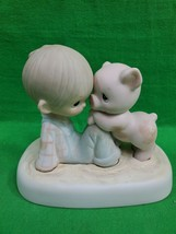 Precious Moments ~ We're In It Together ~ E-9259 ~ Signed ~ 1982 ~ Fish - $13.06