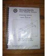 Unverferth Header Transport Operators& Parts Manual - $11.00