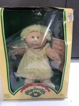 Vtg Cabbage Patch Kids doll Coleco  Box Papers 1985 Hortensia Rita Yellow outfit - $59.35