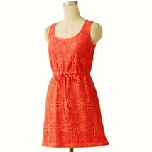 LC Lauren Conrad Crochet Front Racerback Sun Dress Cape Coral - $39.99