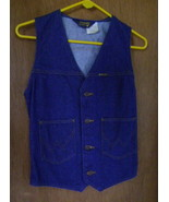 Vest, Wrangler, Misses Small, Denim - $35.00