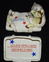 Politics Make Strange Bedfellows Trinket Box Vtg Fitz & Floyd 1980 elephant/Donk - $24.74