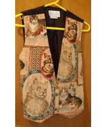 Vest, Misses Small/Petite, Cat Print by Deborah... - $25.00