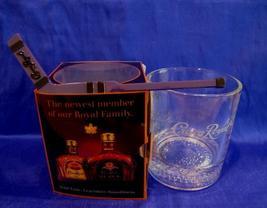 CROWN ROYAL WHISKY Glass with HOCKEY STIR STICK Canada Whiskey Souvenir NIB - $9.95
