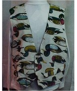 Vest, Adult  Medium, Duck Print Hand Made - $32.00