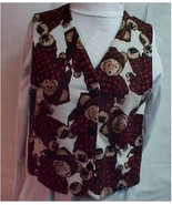 Vest, Flannel Bear Print Child's Size 8-10 - $20.00