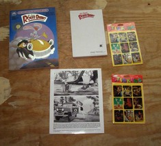 Disney Roger Rabbit Lot Coloring Book Promo Photo 2 Packs Stickers 1987 ... - $26.99