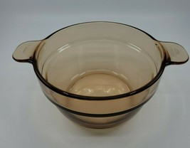 Vision Corning Ware Amber Brown Glass Double Boiler Insert V-20-B France - $16.99