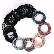 6 Colors Women's Elastic Hair Ties,100 pieces Rubber Hair Bands,No Metal Ponytai