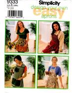 Simplicity 9333 Misses' Design Your Own Apron Sewing Pattern S-M-L - $9.99