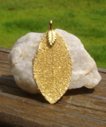 Real Leaf Pendant, Leaf Preserved and Dipped in 24K Yellow Gold - $25.00