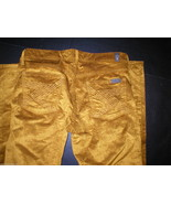 New 7 for All Mankind Pants Ribbed Gold Boot Cord Corduroy Jeans 29 Wome... - $76.00
