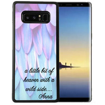 Personalized Case Fits Samsung Note 9 7 5 4 Little Bit Heaven Angel Wing... - $13.98