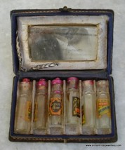 rare ancient old glass perfume bottle with box india - $197.01