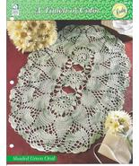 Shaded Green Oval Doily~A Touch of Color Croche... - £2.31 GBP