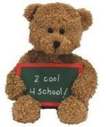 Ty Beanie Baby School Rocks Teddy Bear NEW - $8.90