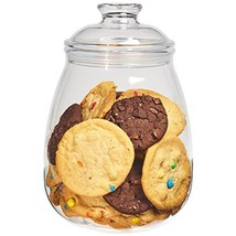 Cookie Jar with Lid, Airtight Clear Plastic Eggplant Shaped in Premium A... - $26.76