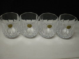 4 CRISTAL d'Arques J.G. Durand Longchamp Large Double Old Fashions - $19.95