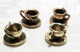 COFFEE TEACUP CHARM FINE PEWTER PENDANT CHARM 14x18x10mm image 1