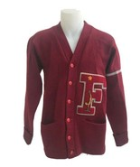 Vintage 1938 Fremont High School Albion Letterman's Sweater Maroon Wool ... - $154.28