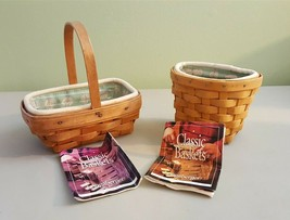 Longaberger 1999 OREGANO & PARSLEY BOOKING BASKET 2 Baskets Liners & Pro... - $29.95