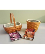 Longaberger 1999 OREGANO & PARSLEY BOOKING BASKET 2 Baskets Liners & Pro... - $29.95