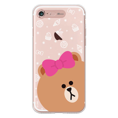 LINE Friends CHOCO Light UP Case iPhone 7/7 Plus Character Cover Mobile Skin Acc