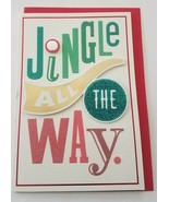 NEW Shoebox by Hallmark Christmas Greeting Card and Envelope Jingle All ... - $5.40