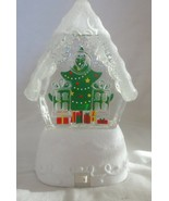 Hallmark Snowblowing Gingerbread House Shaped Globe Lighted Color Changing - $59.39