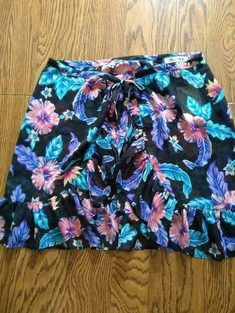 Miken Swim Beach Cover Up Skirt Size L